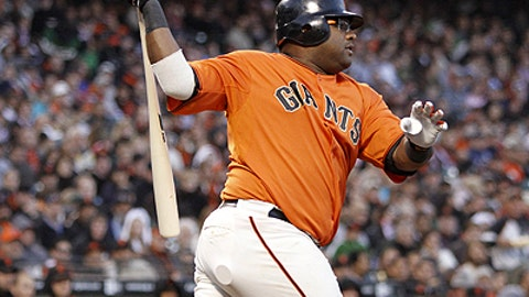 Slowing down: Pablo Sandoval, Giants
