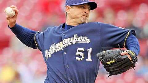 Slowing down: Trevor Hoffman, Brewers