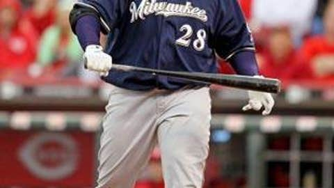 Slowing down: Prince Fielder, Brewers