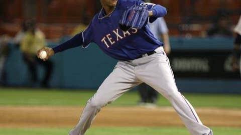 Speeding up: Alexi Ogando, Rangers