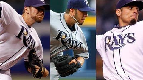 Slowing down: Wade Davis, James Shields, Matt Garza, Rays