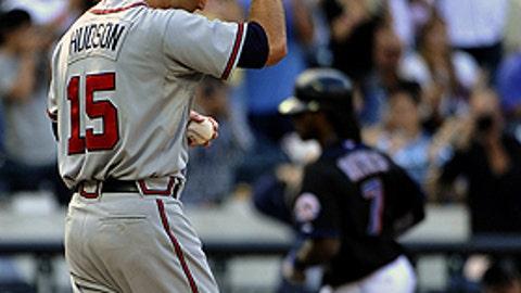 Slowing down: Tim Hudson, Braves