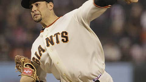 Speeding up: Jonathan Sanchez, Giants