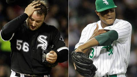 Slowing down: Mark Buehrle and Edwin Jackson, White Sox