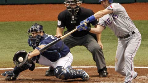 Rays-Rangers, Game 2, fifth inning, one out