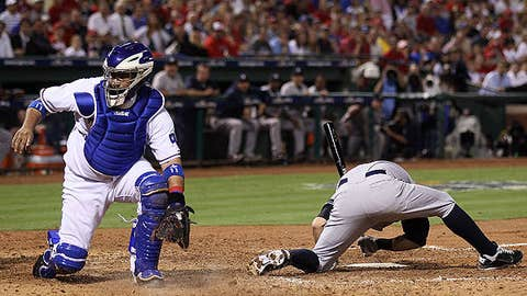 Rangers-Yankees, Game 6, fifth inning, one out