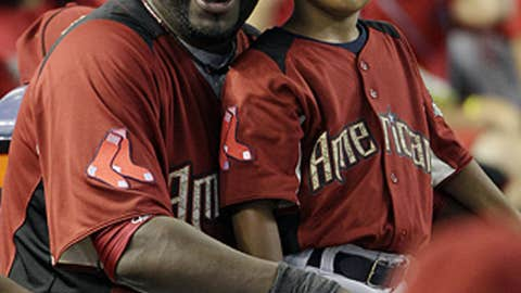 Big Papi and his little man