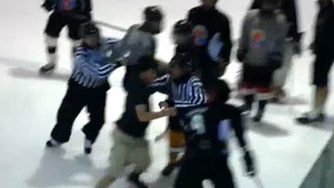 Fan takes to the ice