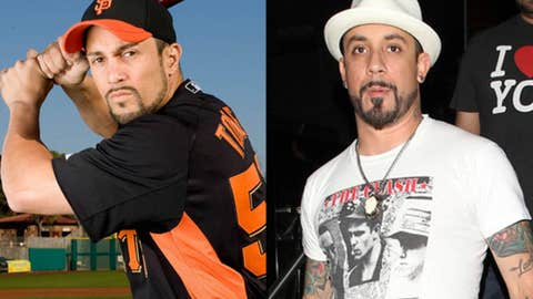 Andres Torres and A.J. McLean