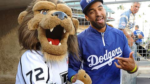 NHL's Kings mascot Bailey, Los Angeles Dodgers