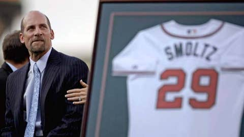 Smoltz's number retired