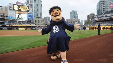 Swinging Friar, San Diego Padres