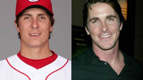 Homer Bailey and Christian Bale