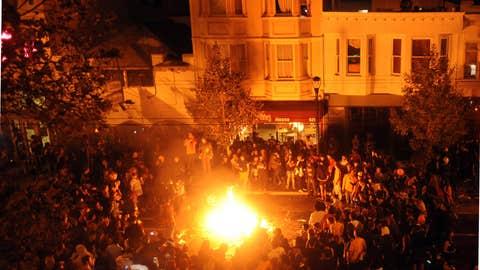 Bay Area bonfire