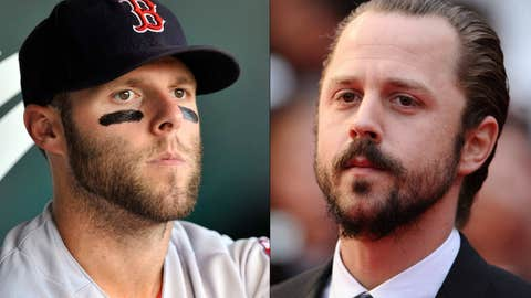 Dustin Pedroia and Giovanni Ribisi