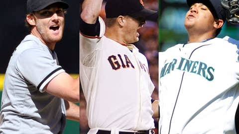 Philip Humber, Matt Cain and Felix Hernandez