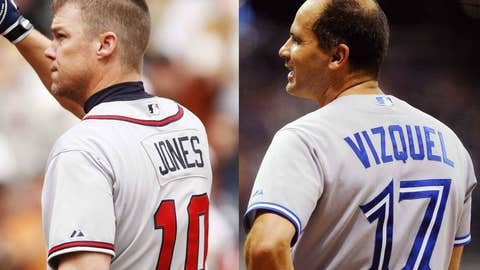 Chipper Jones and Omar Vizquel