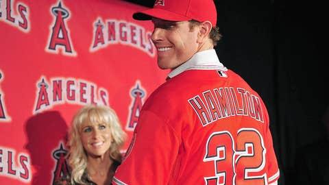 Josh Hamilton returns to Arlington as an Angel