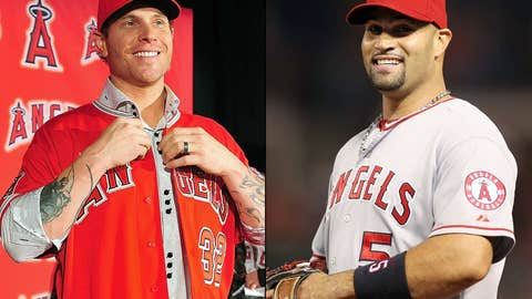 How will Angels superstars Hamilton and Pujols coexist in the same lineup?