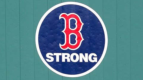 Image: Boston Strong logo at Fenway Park (© Jim Rogash/Getty Images)