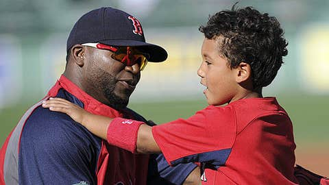 MLB Red Sox David Ortiz with son