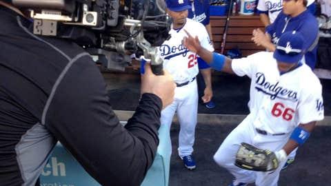 Dodgers dugout