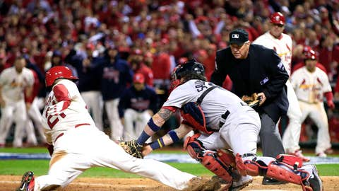 Game 3: Cards 5, Red Sox 4