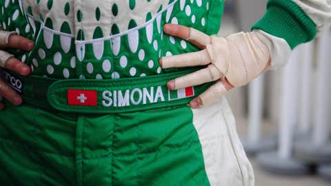 The 'rally to race' award: Simona De Silvestro