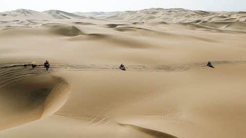 Sand away we go