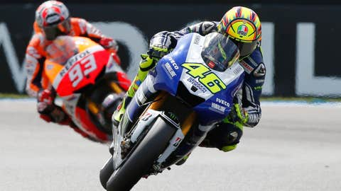 Rossi on top