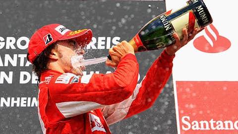 Fernando Alonso, five wins