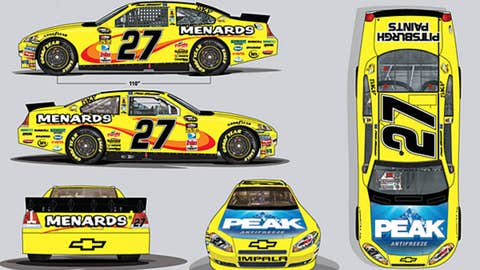 No. 27 Menards Chevrolet