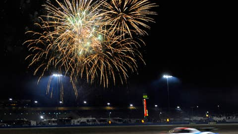 Beneath the fireworks