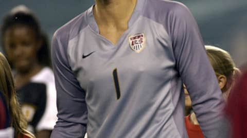 Hope Solo, US soccer team goalie
