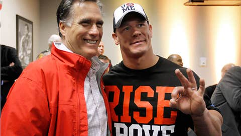 Mitt Romney and John Cena