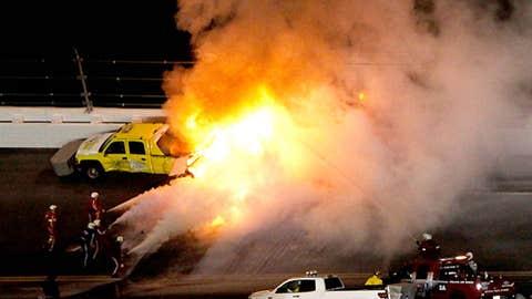 Blaze halts race