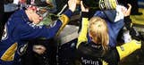 NASCAR Photos Brad Keselowski celebrates winning 2013 Sprint Cup title