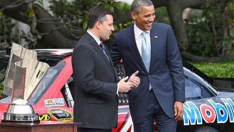 Presidential moment