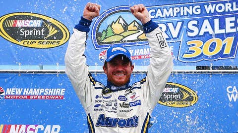 Brian Vickers, driver of the #55 Aaron's Dream Machine Toyota