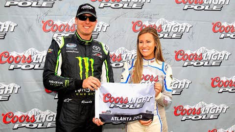 Kyle grins with Miss Coors