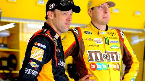 Joe Gibbs Racing teammates Matt Kenseth, Kyle Busch