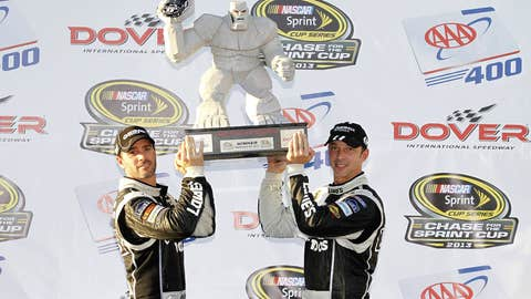 Jimmie and Chad hoist Miles