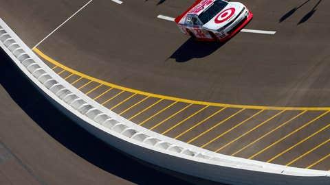 Larson turns laps