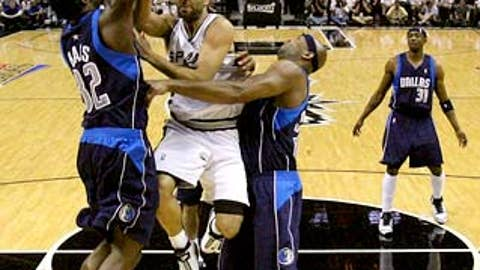Is Erick Dampier going to pound Tony Parker?