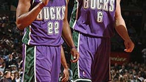 Michael Redd, SG, and Andrew Bogut, C, Milwaukee Bucks