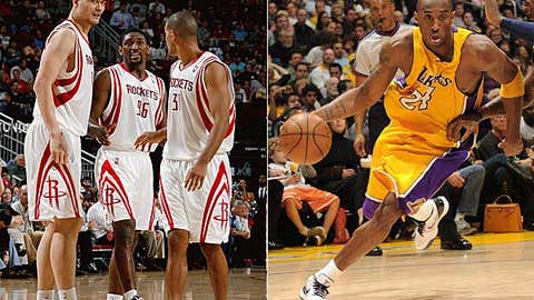 Ron Artest and Shane Battier vs. Kobe Bryant