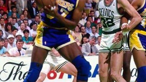 Magic's baby hook vs. Celtics, 1987 Finals
