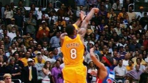 Kobe Bryant's tying three vs. Pistons, 2004 Finals