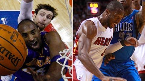 Shooting guard: Kobe Bryant vs. Dwyane Wade