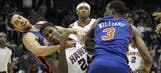 Hawks-Knicks fight pics